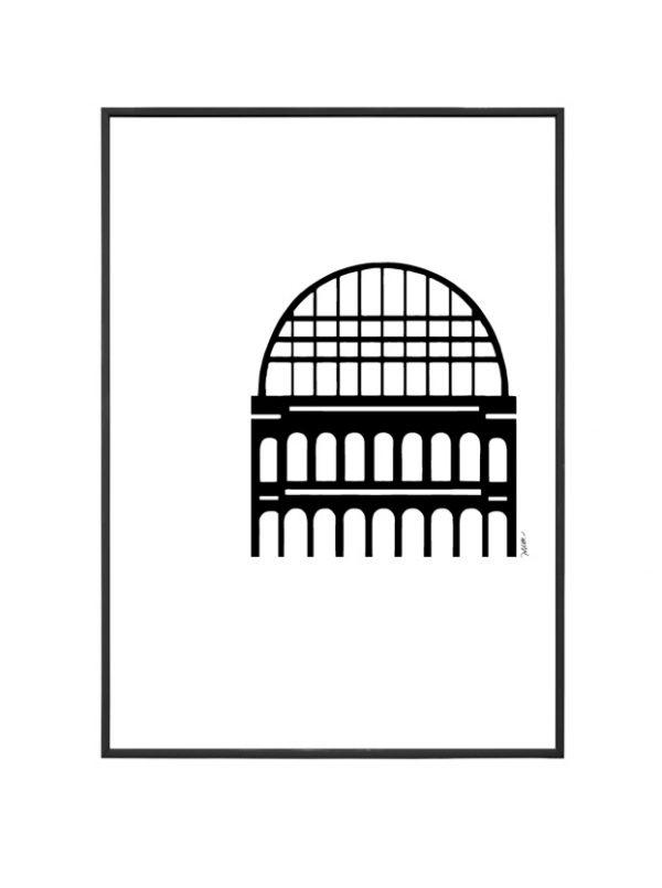 Opéra affiche A4 encadrée Lyon